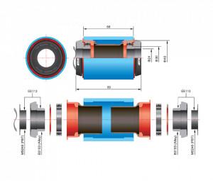 Reductie monobloc FSA de la PF30 BB Road la M/Exo alloy CK EE113