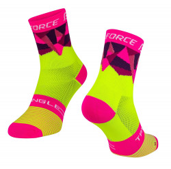 Sosete Force Triangle fluo/roz S-M