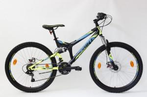 Bicicleta Sprint Element DB 26 2021 Negru/Verde Neon Mat 460 mm