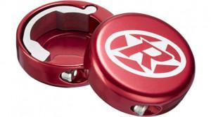Capete ghidon Reverse lock-on aluminiu rosii