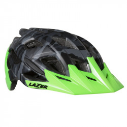 CASCA LAZER ULTRAX+ MATTE BLACK CAMO FLASH GREEN (L) (17)