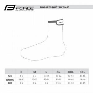 Huse pantofi Force Hot Extreme neopren negre 3XL