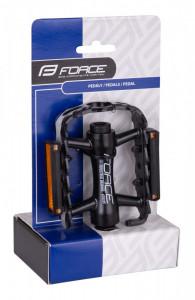 Pedale Force Edge Aluminiu, cu rulmenti, negre