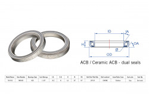 Rulment cuvete FSA TH-873S ACB 1 1/8 36x45 dualS MR054S