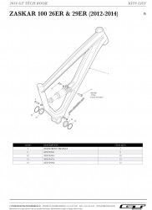 Surub pivotare GT Zaskar M4 Male V2 1x