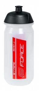 Bidon Force Stripe 0.5l transparent/rosu