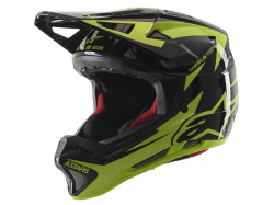 Casca Alpinestars Missile tech Airlift Black/yellow Fluo XS