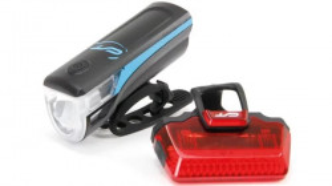 Far + stop CONTEC Speed Led USB - 20lux - negru/albastru