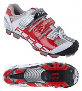 Pantofi Force Free MTB alb/rosu 45