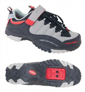 Pantofi Tourist Force negru/gri/rosu 44