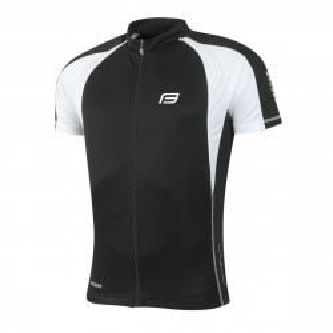 Tricou ciclism Force T10 negru/alb XL
