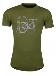 Tricou FORCE FLOW maneci scurte verde XS