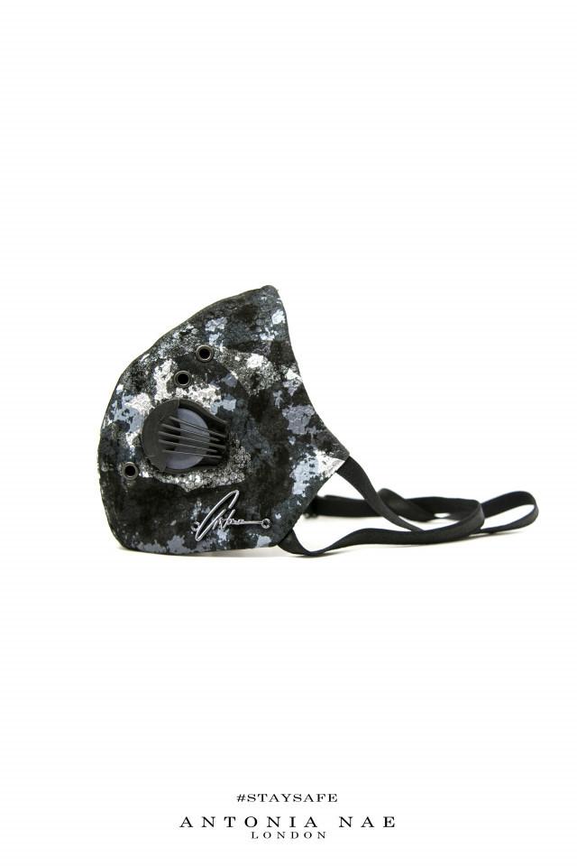 Mască din piele Silver Army
