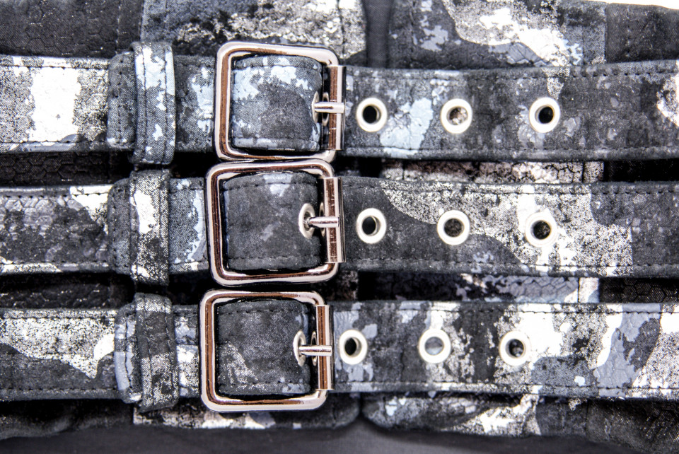 SILVER ARMY LEATHER WAIST BELT