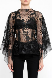 BLACK LACE 'BUTTERFLY' TOP