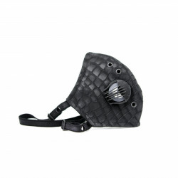 Croco Emboss leather face mask