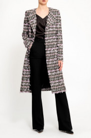 PINK MIX TWEED COAT