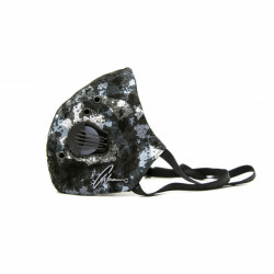 Silver Army leather face mask