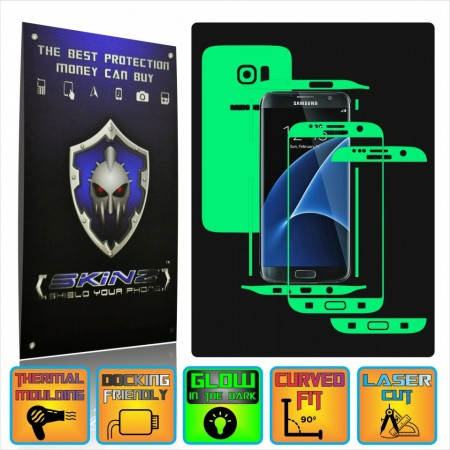 Samsung Galaxy S7 Edge - Glow in the Dark Skin,Full Body Shield,Case Cover Protector,Decal Sticker Wrap