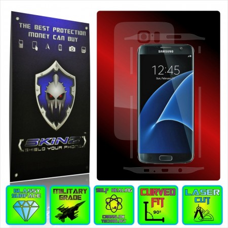 Samsung Galaxy S7 Edge - Self Healing Screen Protector + Full Body Invisible Shield,Skin Cover Wrap