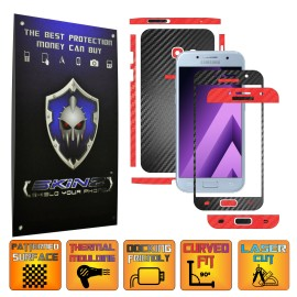 Samsung Galaxy A3 2017 -  Two Tone Carbon Skin, Full Body Case Cover Protector,Decal Sticker Wrap by SKINZ