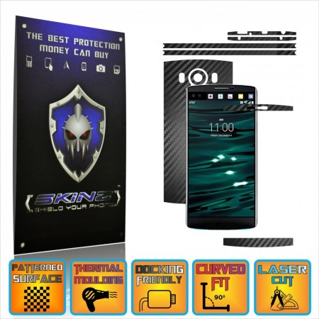 LG V10 - Carbon Skin, Full Body Case Cover Protector, Decal Sticker Wrap