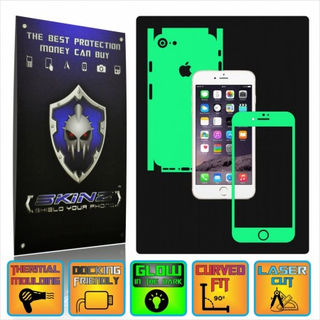 brand new 17234 13a42 Apple iPhone 7 - Glow in the Dark Skin,Full Body Shield,Case Cover  Protector,Decal Sticker Wrap