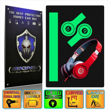 BEATS BY DR DRE SOLO HD - Glow in the Dark Skin,Full Body Shield,Case Cover Protector,Decal Sticker Wrap by SKINZ