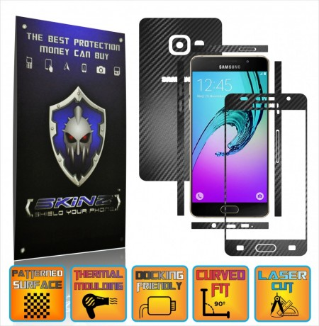 Samsung Galaxy A5 2016 & Duos - Carbon Skin, Full Body Case Cover Protector, Decal Sticker Wrap