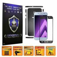 Samsung Galaxy A3 2017 - Carbon Skin, Full Body Case Cover Protector, Decal Sticker Wrap