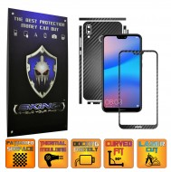 Huawei P20 Lite - Carbon Skin, Full Body Case Cover Protector, Decal Sticker Wrap