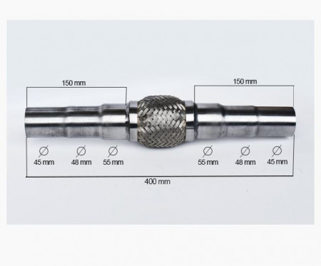 RACORD FLEXIBIL ADAPTABIL 45/48/55X400/100 MM
