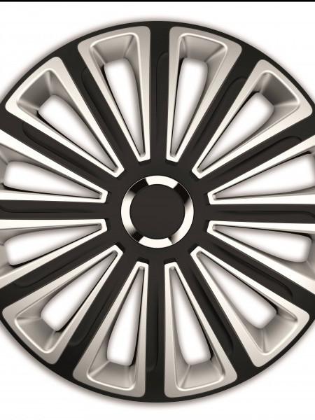 SET CAPACE ROTI 16` SILVER&BLACK CU INEL CROMAT TREND