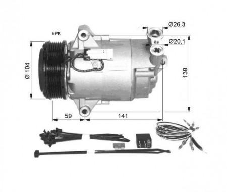 Compresor A/C Opel Astra H 1.9d NRF 32427