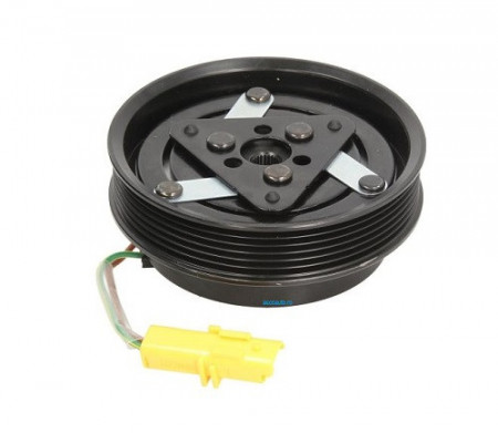 Set bobina, fulie si ambreiaj compresor A/C Sanden SD6V12 SD6V16 SD7V16 6PK 126mm RENAULT NISSAN