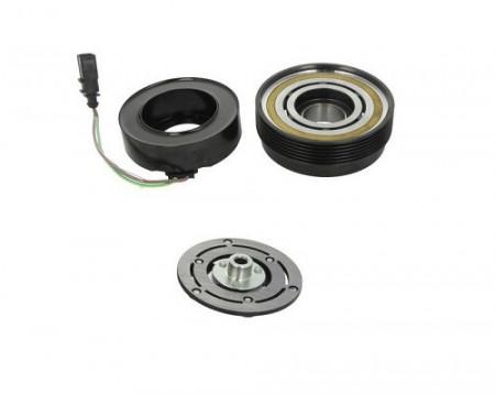 Set bobina, fulie si ambreiaj compresor A/C SANDEN SD7V16 6pk 120mm - AUDI, SEAT, SKODA, VOLKSWAGEN, FORD