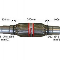 RACORD FLEXIBIL ADAPTABIL 42/45/48/52/55X400/200 MM BOSAL