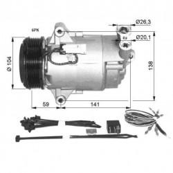 Compresor A/C Opel Astra H 1.9d NRF