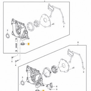 Simering pompa ulei Opel Astra J Originala GM 646125 55589549