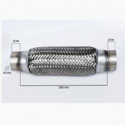 RACORD FLEXIBIL INNER & OUTER BRAID 45x200 MM