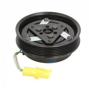 Set bobina, fulie si ambreiaj compresor A/C Sanden SD6V12 SD6V16 SD7V16 6PK 126mm RENAULT NISSAN MERCEDES