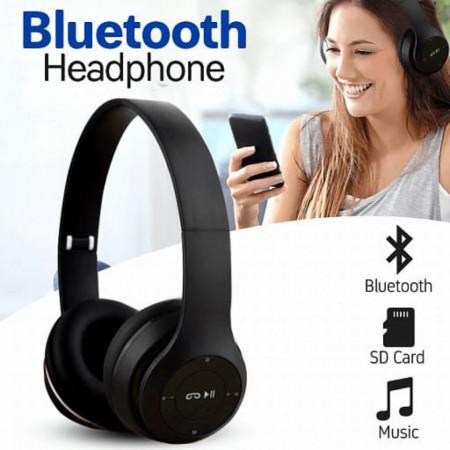 Casti bluetooth FOXMAG24®, 5.0EDR, cu MP3, Radio, Negru
