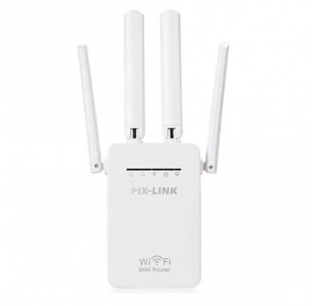 Router / Amplificator Extender Retea WI-FI Pix-Link Router Wireless 300Mbps, FOXMAG24