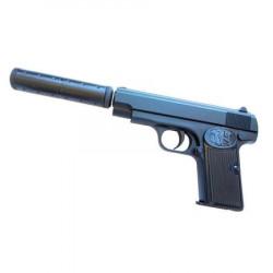 Pistol metalic Airsoft Gun K17A Cu Amortizor + 300 bile