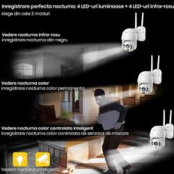 Camera De Supraveghere FOXMAG24®, FULL HD 1080P, 2MP, Wifi, Interior/Exterior, Vedere Color Noaptea, Rezistenta La Apa, Comunicare Bidirectionala, Senzor Miscare