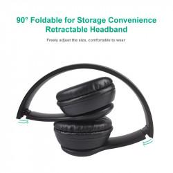 Casti bluetooth FOXMAG24® ,Wireless, cu microfon , card de memorie, Rosu