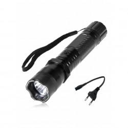 Lanterna cu electrosoc si laser FOXMAG24®, LED, Aluminiu, Reincarcabila