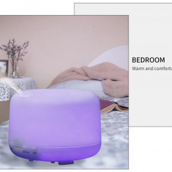 Difuzor Uleiuri Esentiale FOXMAG24®, 500 ml, Ultrasonic, Umidificator, Aromatherapy Lamp, 7 culori, Telecomanda + CADOU: 1 pachet monstre doTerra