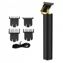 Masina profesionala de tuns barba sau contur FOXMAG24®, autonomie acumulator 120 minute, lama inox, Negru