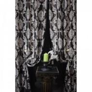 Set 2 draperii black-out 200x245cmx2,culoare maro-bej,model baroc, Model 6